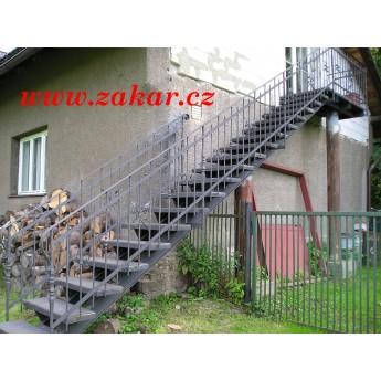 Zábradlí se schodištěm